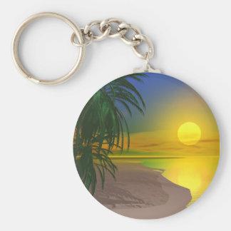La vida es una playa soleada llavero redondo tipo pin
