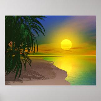 La vida es una playa soleada póster