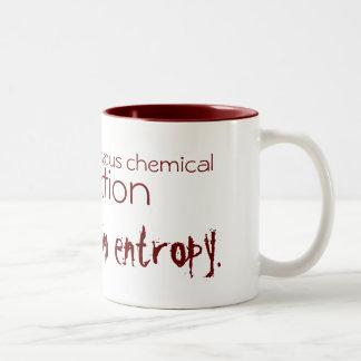 La vida es una reacción química espontánea taza de café