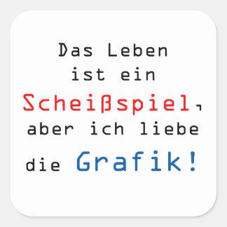 La vida es una Scheißspiel, pero amo…