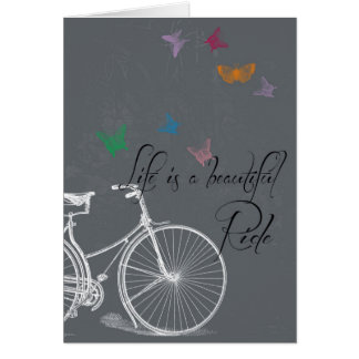 La vida es una tarjeta de felicitación hermosa del