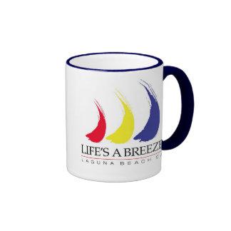 La vida es una taza de la playa de Breeze™_Paint-T