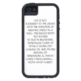 LA VIDA ES VIAJE DE NOTA AL SEPULCRO iPhone 5 FUNDAS