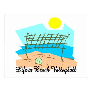 La vida es voleibol de playa postal
