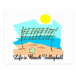 La vida es voleibol de playa postales