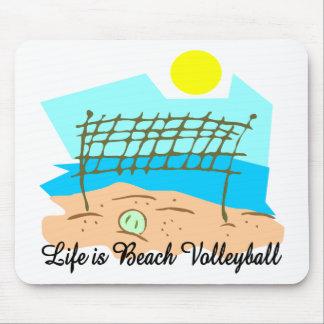 La vida es voleibol de playa tapete de ratón