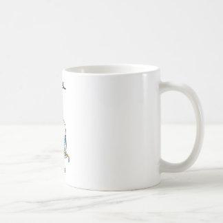 La vida está bebiendo taza básica blanca