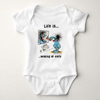La vida está despertando temprano body para bebé