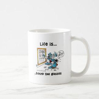 La vida está detrás de los vidrios tazas de café