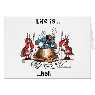 La vida está infierno tarjetón