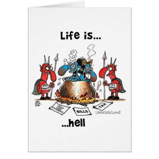 La vida está infierno tarjetas
