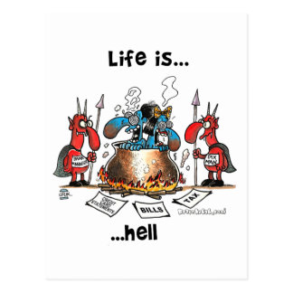 La vida está infierno postales