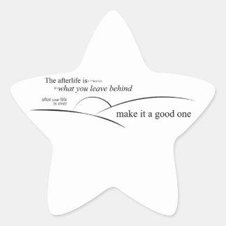 La vida futura pegatina en forma de estrella