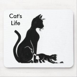 La vida Mousepad del gato