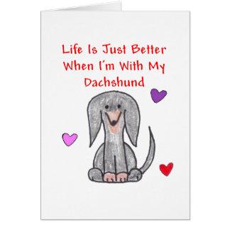 La vida negra del Dachshund es apenas una mejor ta Felicitación