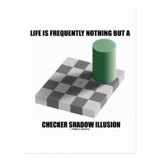 La vida no es con frecuencia nada sino una sombra tarjeta postal