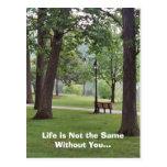 La vida no es igual sin usted tarjetas postales