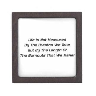 La vida no es medida al lado de las respiraciones caja de regalo de calidad