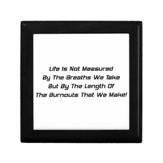La vida no es medida al lado de las respiraciones caja de recuerdo