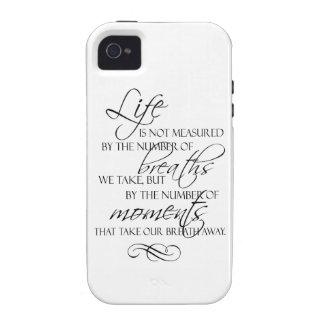 La vida no es medida por las respiraciones que iPhone 4/4S funda