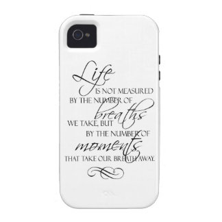 La vida no es medida por las respiraciones que tom vibe iPhone 4 carcasa