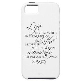 La vida no es medida por las respiraciones que tom iPhone 5 carcasa