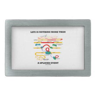 La vida no es nada más que un acontecimiento empal hebillas de cinturón rectangulares