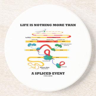 La vida no es nada más que un acontecimiento posavasos manualidades