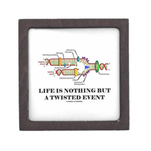 La vida no es nada sino un acontecimiento torcido  cajas de joyas de calidad