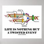 La vida no es nada sino un acontecimiento torcido  poster