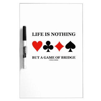 La vida no es nada sino un juego del puente (los pizarras blancas de calidad