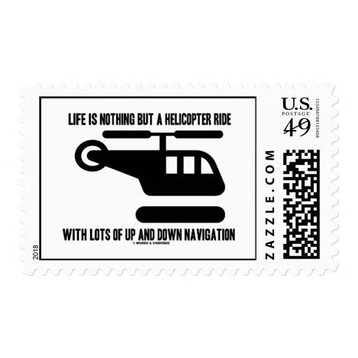 La vida no es nada sino un paseo del helicóptero c sello