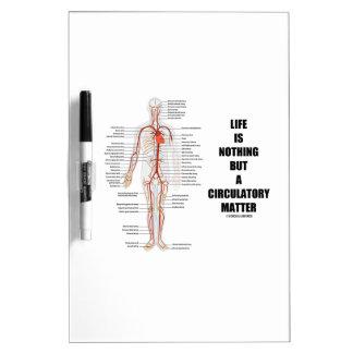La vida no es nada sino una cuestión circulatoria pizarra blanca