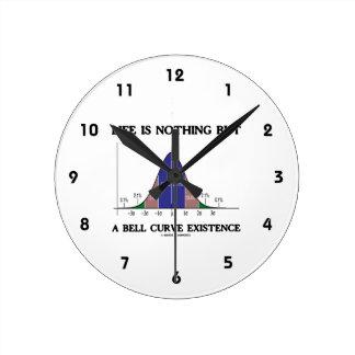 La vida no es nada sino una existencia de la curva relojes de pared