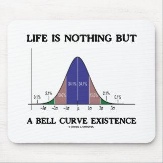 La vida no es nada sino una existencia de la curva alfombrillas de ratón