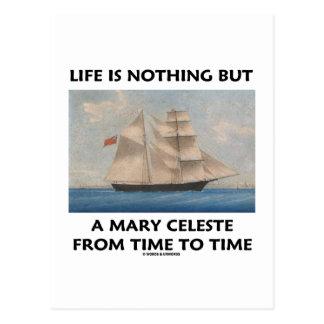 La vida no es nada sino una Maria Celeste a partir Postal