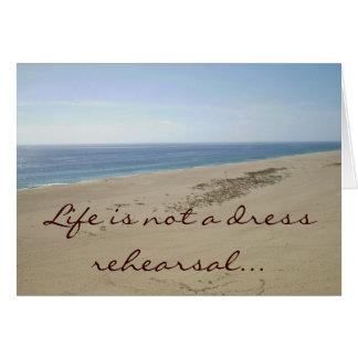 La vida no es un notecard de la escena de la playa tarjeta pequeña