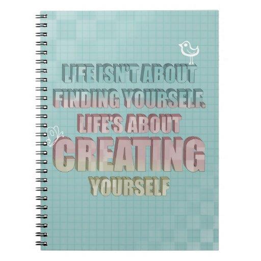 La vida no está sobre encontrarse cita cuadernos