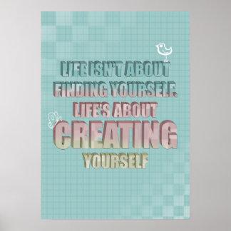 La vida no está sobre encontrarse cita póster