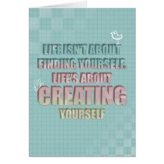 La vida no está sobre encontrarse cita tarjeta de felicitación