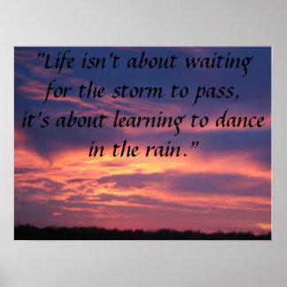 la vida no está sobre esperar la tormenta para pas impresiones