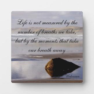 La vida no se mide placa para mostrar
