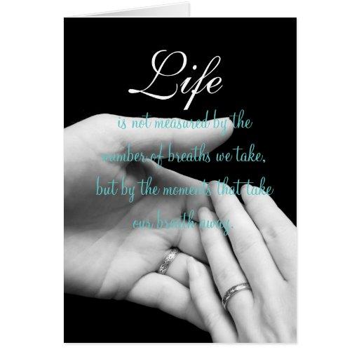 La vida no se mide…. felicitacion