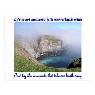 La vida no se mide tarjetas postales