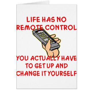 La vida no tiene ningún cambio teledirigido él ust tarjeta de felicitación