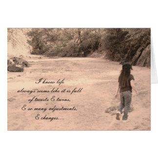 La vida puede ser dura…. tarjeta de felicitación