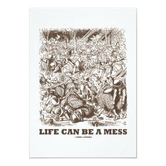 """La vida puede ser un lío (el espejo del país de invitación 5"""" x 7"""""""