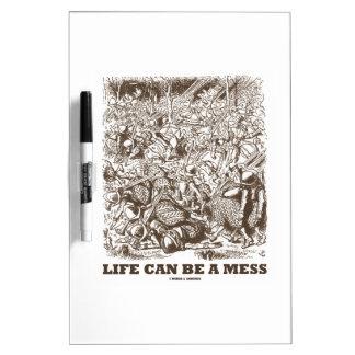 La vida puede ser un lío (el espejo del país de pizarras blancas