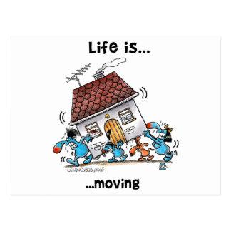 La vida se está moviendo postal