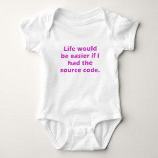 La vida sería más fácil si tenía el código fuente body para bebé